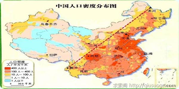假如中国只有三亿人口
