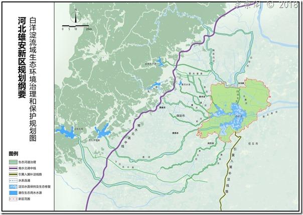白洋淀流域生态环境治理和保护规划图